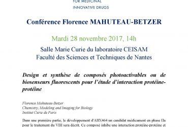 Conférence Florence Mahuteau-Betzer